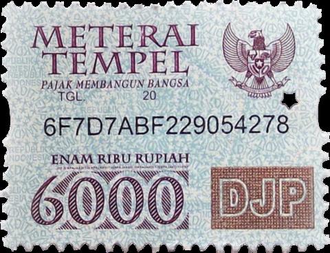 Materai 6000 png 4 » PNG Image.