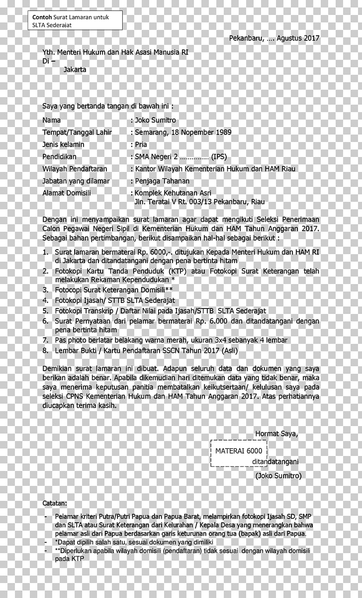Cover letter Paper Business letter Ministry of Law and Human.