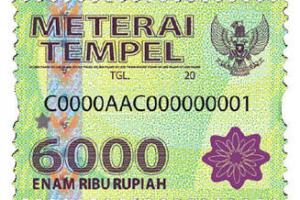 Materai 6000 png » PNG Image.