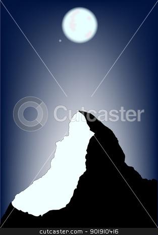 Matterhorn Night stock vector.