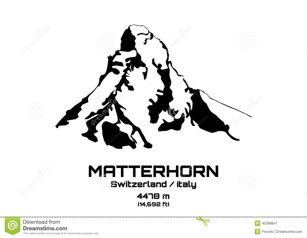 Matterhorn Stock Illustrations.
