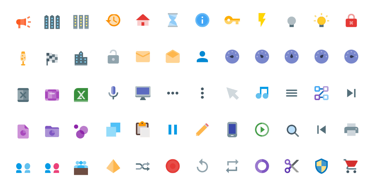 6300+ Vector Material Design Icons, Colored & Solid.