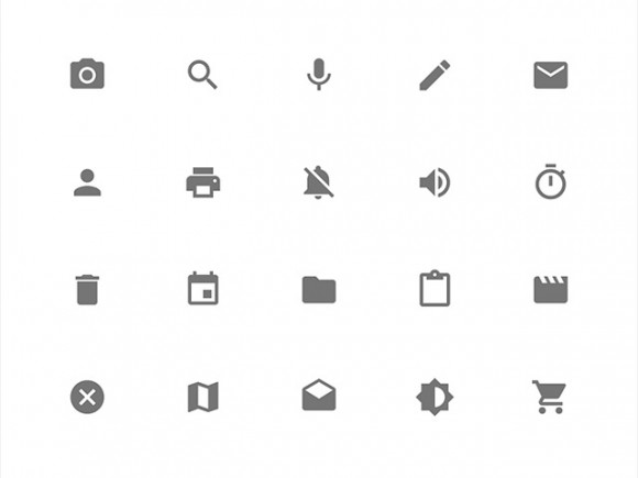 Google Material Design icons.
