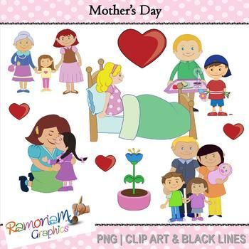 Mothers Day Clip art.