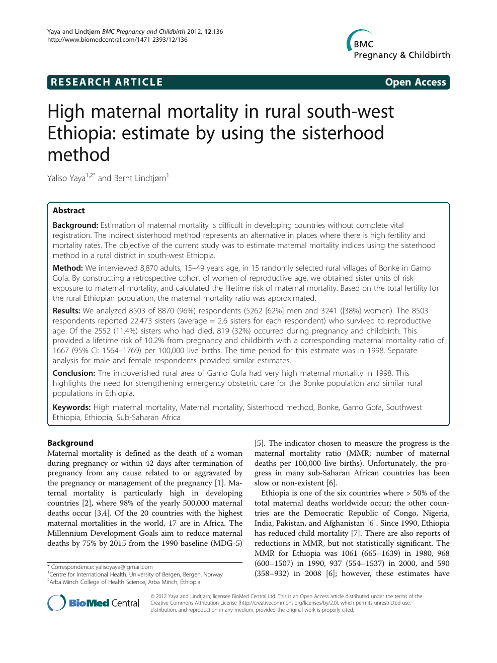 High maternal mortality in rural south.