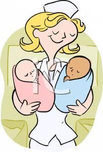 Maternity nurse clipart.