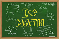 Love Math Chalkboard Royalty Free Stock Images.