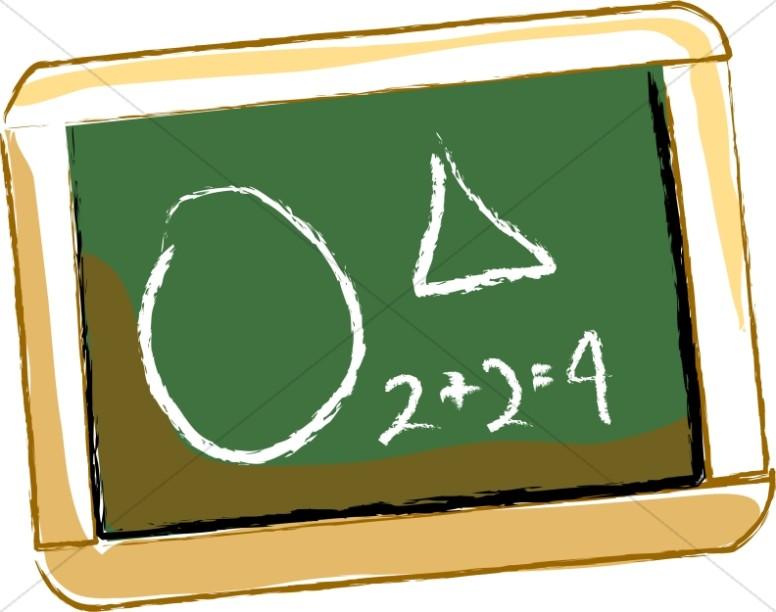 Personal School Math Chalkboard.