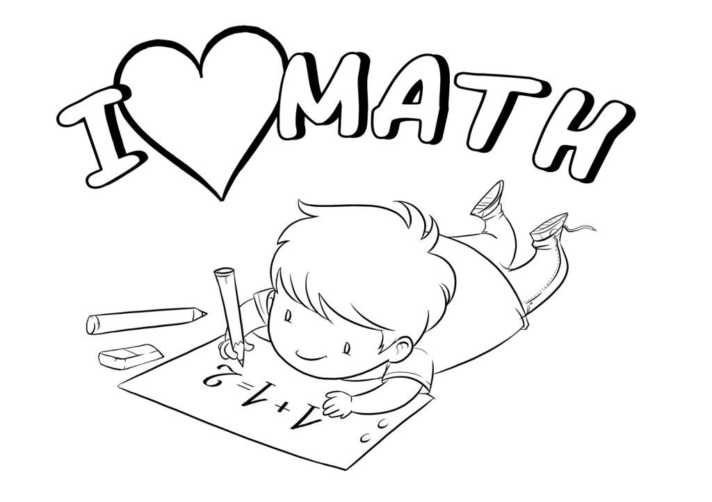 I Love Math Clipart Black And White.