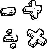 Math Clipart Black And White.