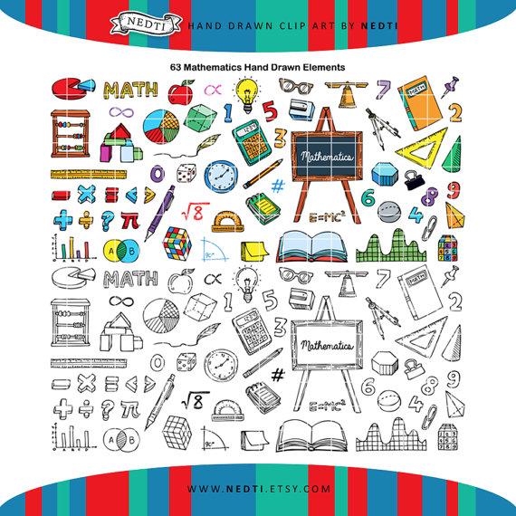 PNG Mathematics Doodle Clipart Student Classroom School Clip.