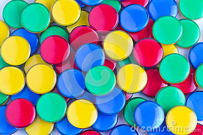 Colorful Plastic Counters Stock Photo.