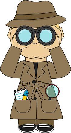 Secret Agents / Detectives Clipart Set — Over 10 Graphics.