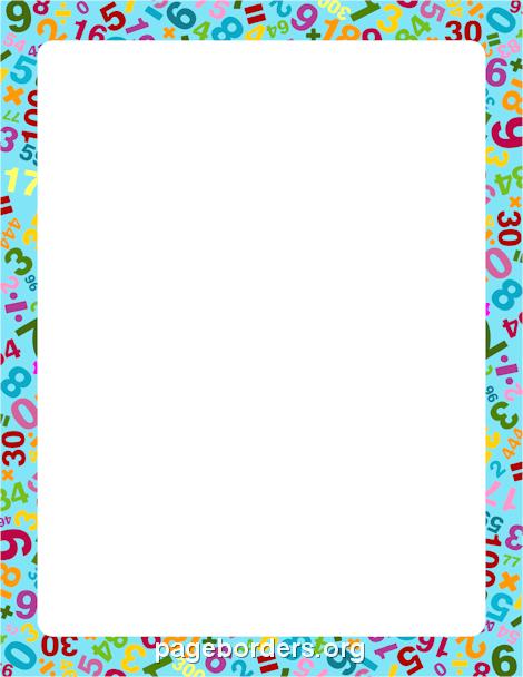 Math Border: Clip Art, Page Border, and Vector Graphics.