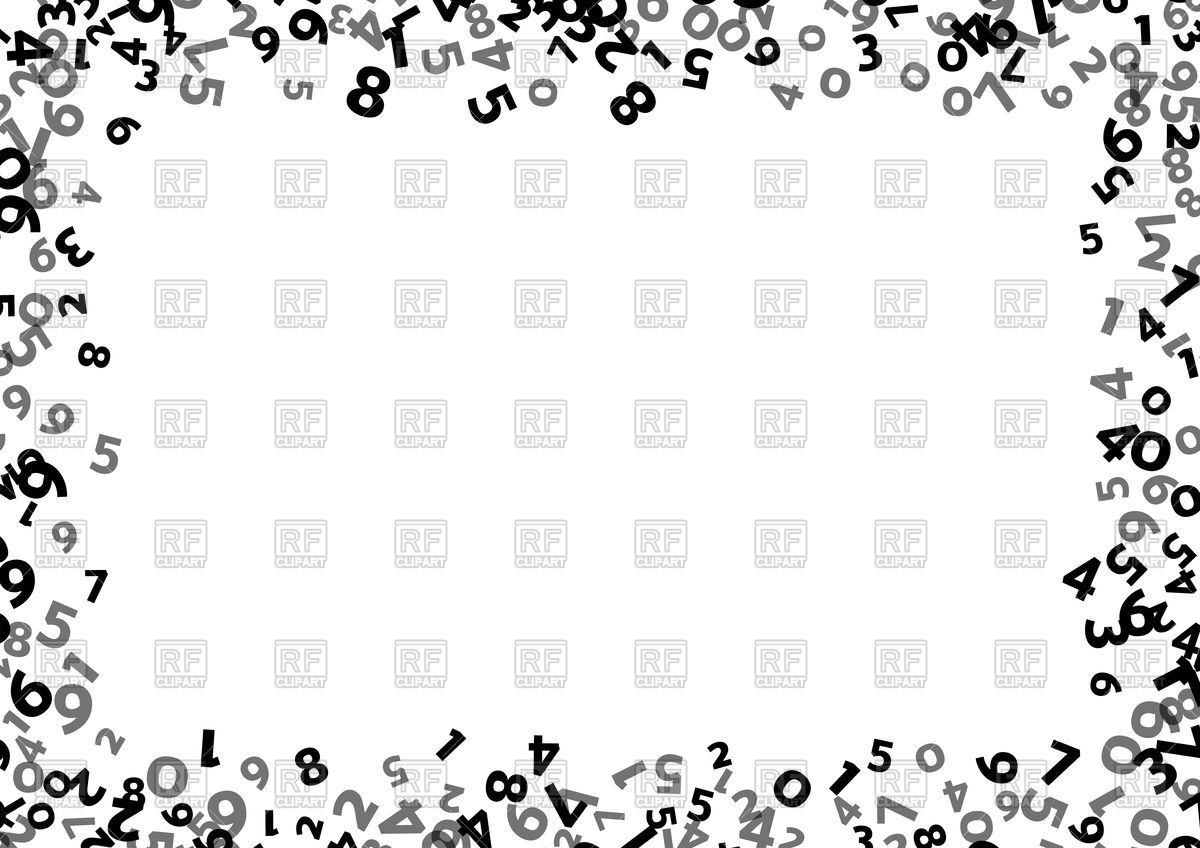 Abstract math number frame Vector Image #112349.