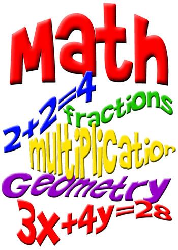 Math Homework Clipart.