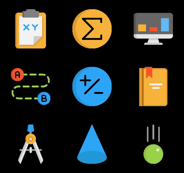 47 math icon packs.