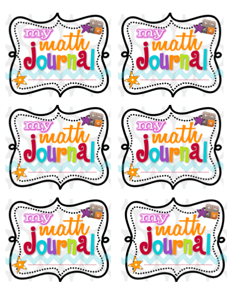 Here\'s a set of math journal labels and printable.