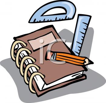 Math Notebook Clipart.