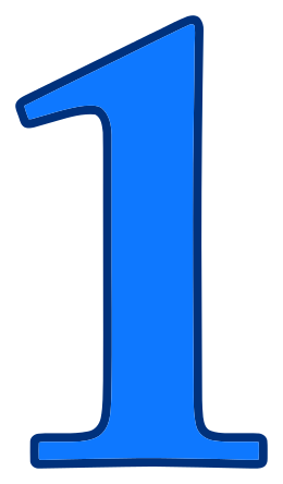 Blue Number 1 Clipart collection 8.