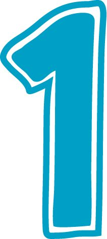 1 number clipart.