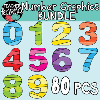Number Clipart, Math Graphics.