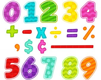 Math numbers clipart 4 » Clipart Portal.