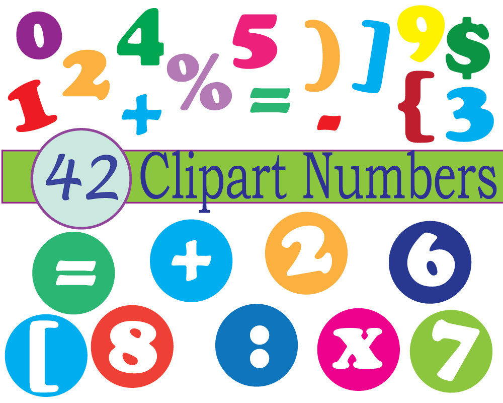 Instant download numbers clip art scrapbooking numbers math.