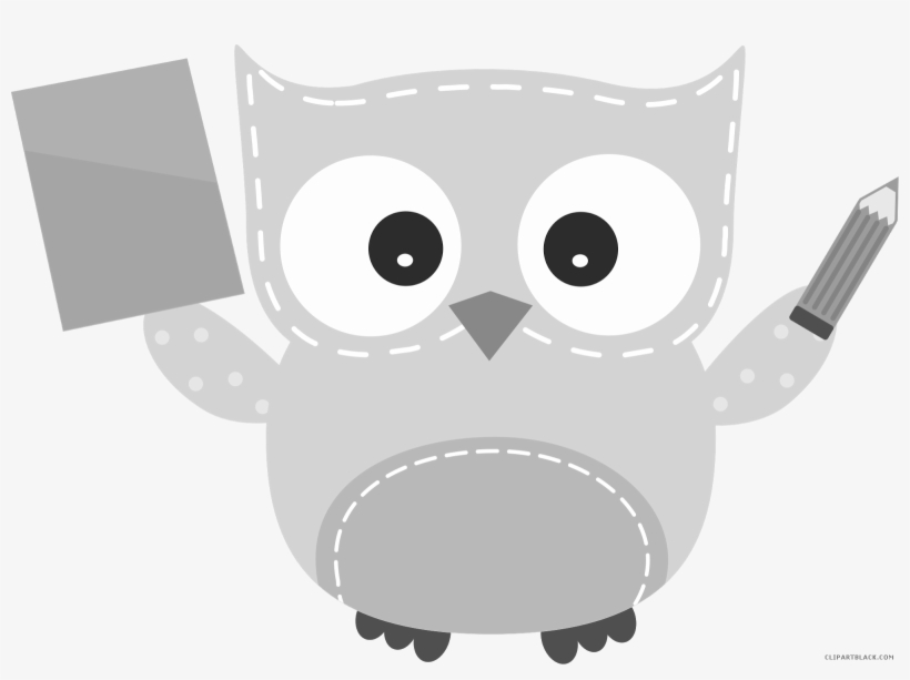 Owl Math Animal Free Black White Clipart Images Clipartblack.