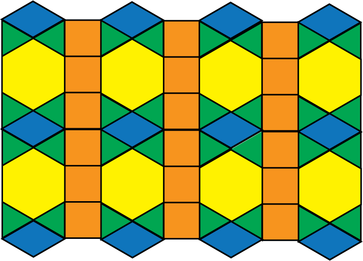 Tessellation Patterns In Maths Clipart.