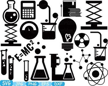 Science School SVG clipart scientist chemistry shape outline lesson math.