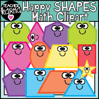 Math Shapes, Geometry Clipart.