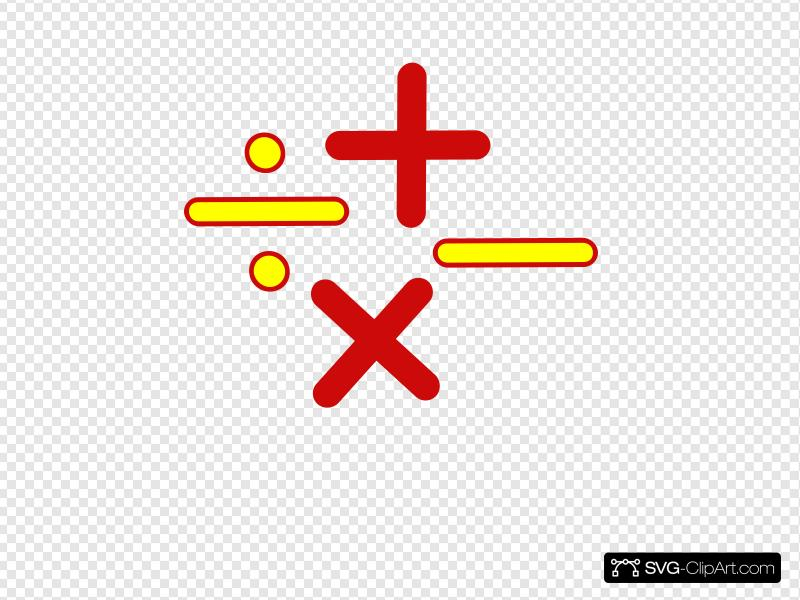 Math Signs Clip art, Icon and SVG.