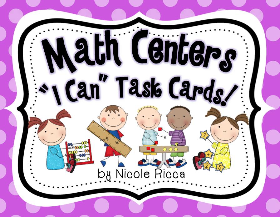 Math centers clipart.