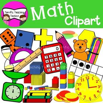 Math Supplies Clip Art (Back to School) by Terrific Teaching.