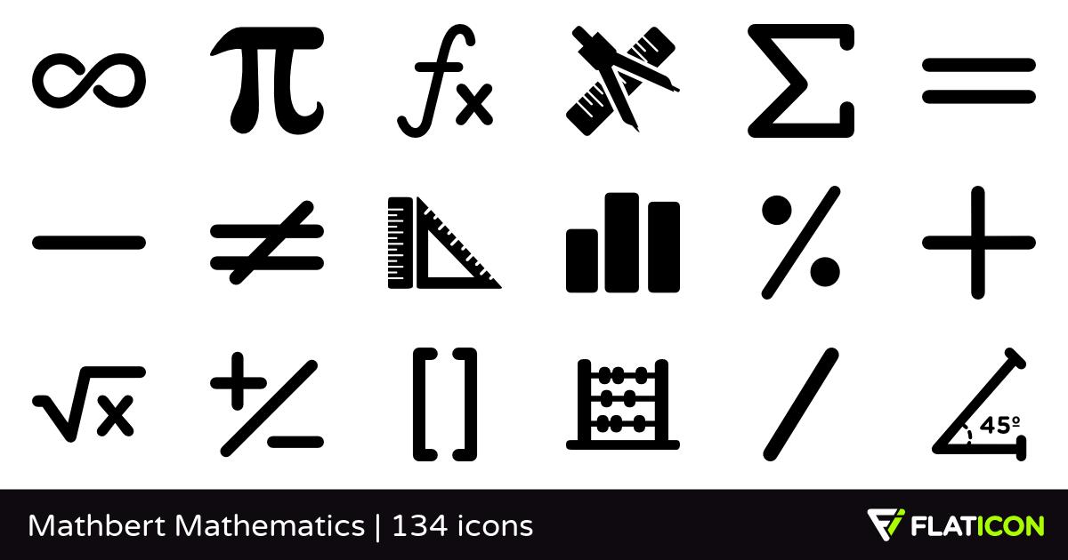 Mathbert Mathematics +130 free icons (SVG, EPS, PSD, PNG files).