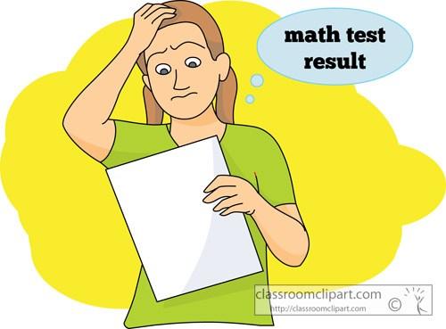Math test result » Clipart Portal.