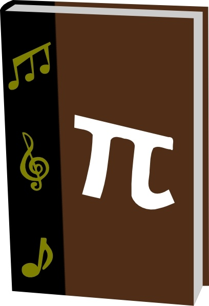 Math Music Textbook clip art Free vector in Open office drawing.