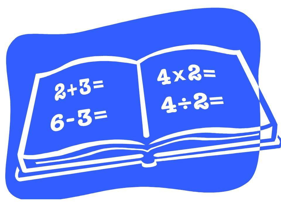 Free Math Book Clipart Image.