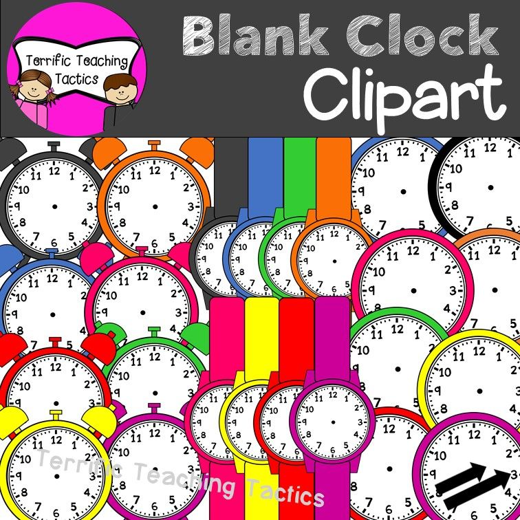 Blank Clock Clip Art Set (Telling Time).