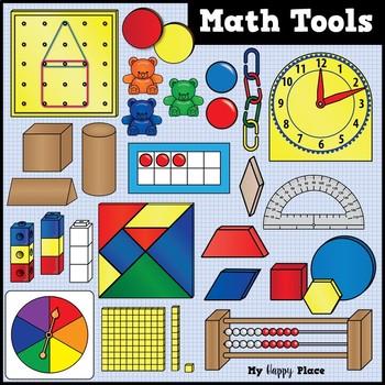 Math Tools and Manipulatives Clip Art.