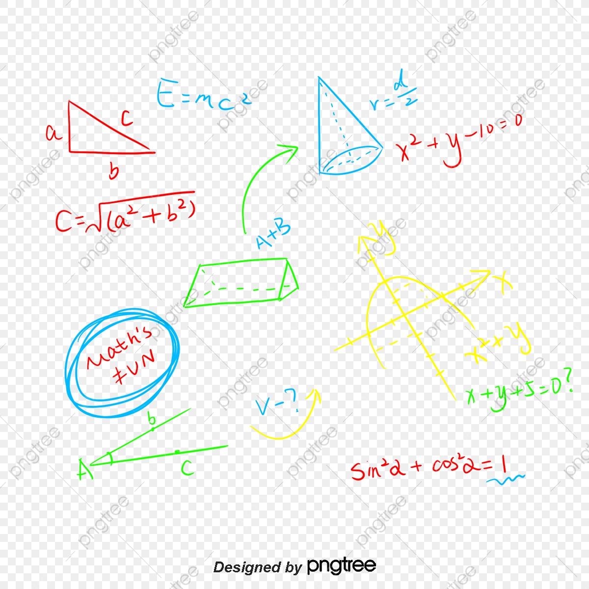 Handwritten Mathematical Formula, Vector Png, Math Class.
