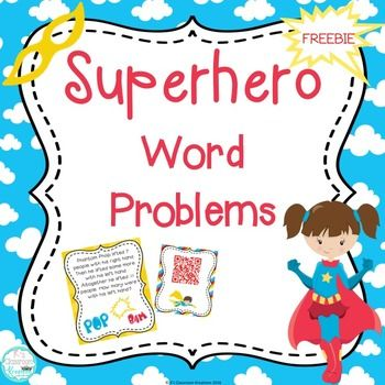 Superhero Addition and Subtraction Word Problems.