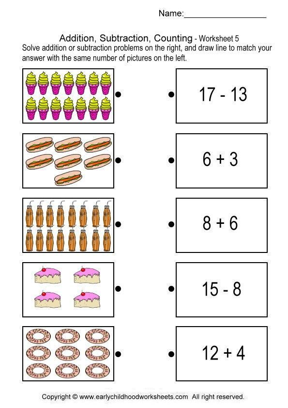 Grade 1 Worksheet Clipart Math Kid.