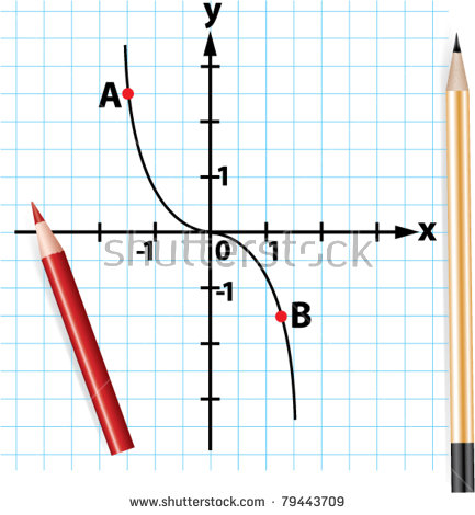 Vector Pencils And Mathematical Function Graph.