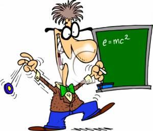 Crazy Mathematician Clipart.