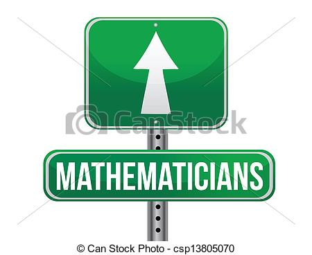 Vectors Illustration of mathematicians road sign illustration.