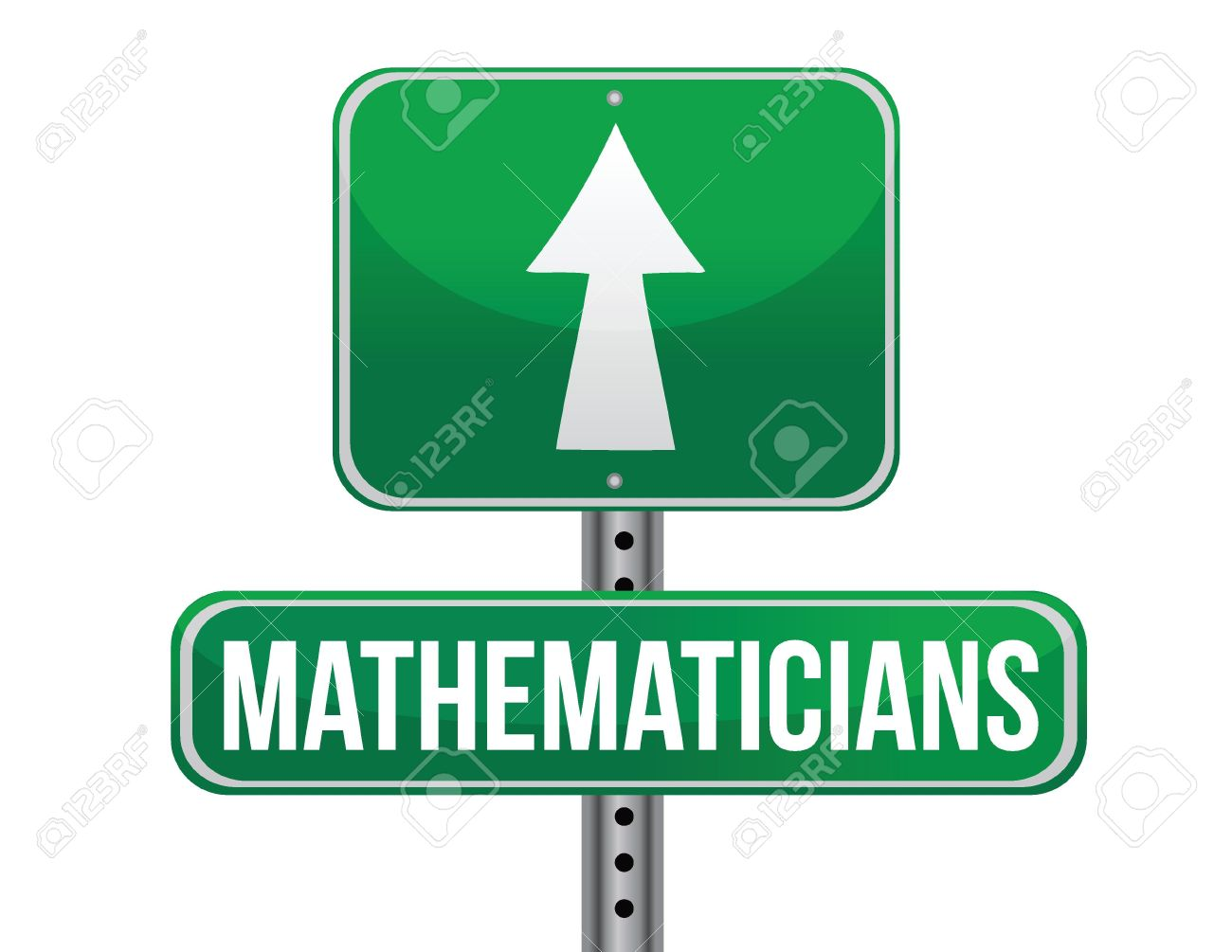 Mathematicians Road Sign Illustration Design Over A White.