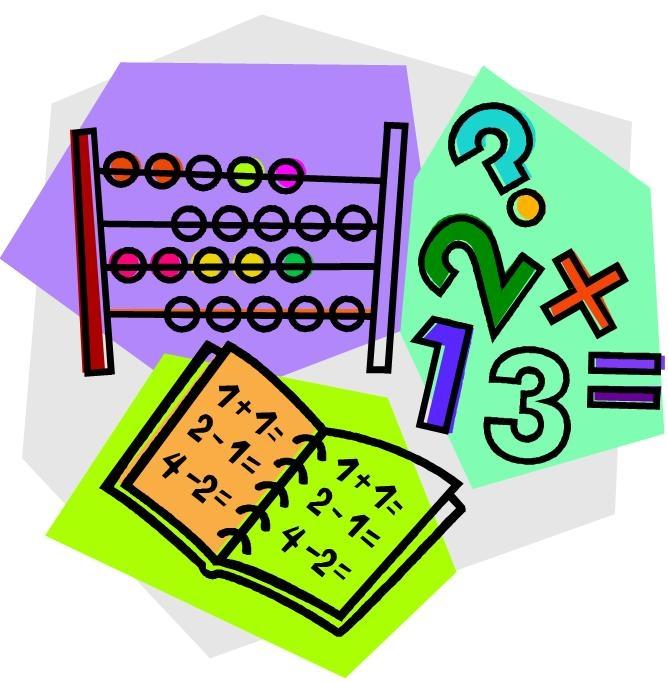 Elementary math clip art.