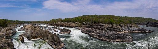 Potomac River Mather Gorge Great Falls National Park Stock Photo.